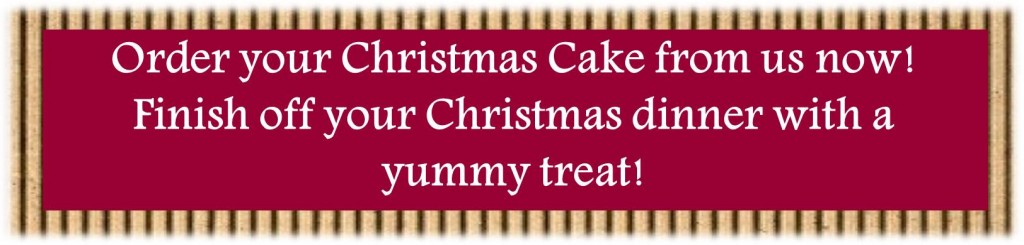 Order your Christmas cake now